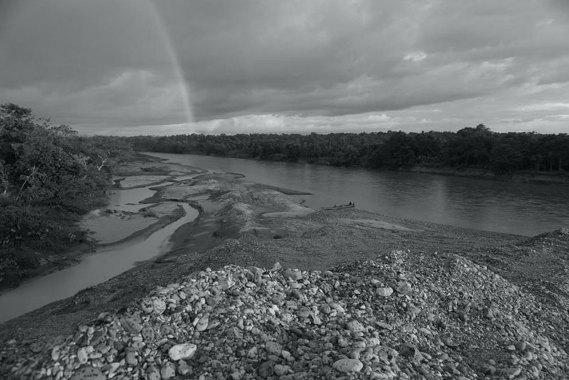 Atrato river. Stone banks and not forest. December 2017. Photo by the author